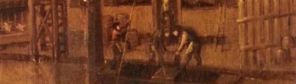 Detail van schilderij van de brouwerij van Dirk Ottensz aan de Oude Rijn.