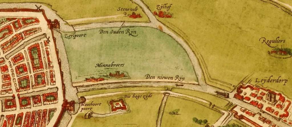De 'dijck' buiten de Zijlpoort en Hogewoerdspoort.