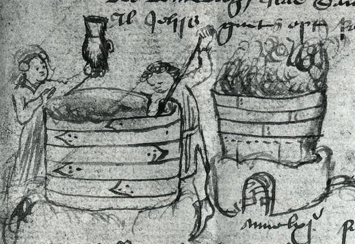 Een open beslagkuip en een brouwketel (een plaatje uit Kampen).