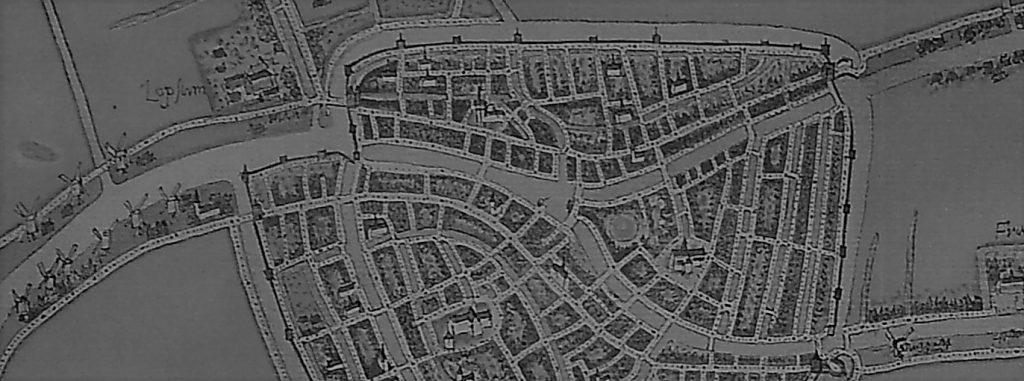 Plattegrond Leiden 16e eeuw